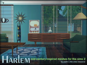 Sims 2 — Harlem Mid Century by Padre — A large set of meshes inspired by the mid century era.