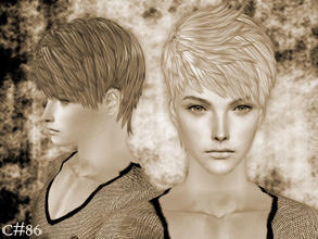 Sims 2 — Demonic Hairstyle - Mesh by Cazy — Hairstyle for male young adult~elder