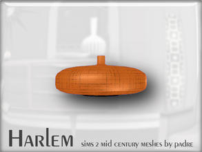 Sims 2 — Harlem Mid Century - Flat Vase by Padre — A large set of meshes inspired by the mid century era.