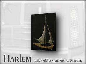 Sims 2 — Harlem Mid Century - String Art by Padre — A large set of meshes inspired by the mid century era.