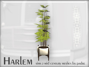 Sims 2 — Harlem Mid Century - Planter Bamboo by Padre — A large set of meshes inspired by the mid century era. *This item