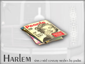 Sims 2 — Harlem Mid Century - Stack of Magazines by Padre — A large set of meshes inspired by the mid century era.