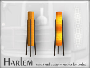 Sims 2 — Harlem Mid Century - Rocket Lamp by Padre — A large set of meshes inspired by the mid century era.