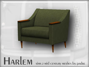 Sims 2 — Harlem Mid Century - Armchair  by Padre — A large set of meshes inspired by the mid century era. This item was