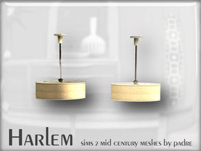 Sims 2 — Harlem Mid Century - Ceiling Light by Padre — A large set of meshes inspired by the mid century era.