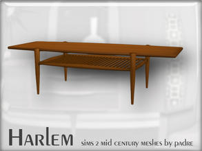 Sims 2 — Harlem Mid Century - Wooden Coffee Table by Padre — A large set of meshes inspired by the mid century era.