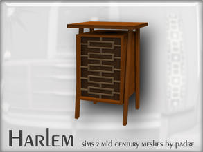 Sims 2 — Harlem Mid Century - End Table by Padre — A large set of meshes inspired by the mid century era. This item has a
