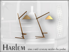 Sims 2 — Harlem Mid Century - Wooden Floor Lamp by Padre — A large set of meshes inspired by the mid century era.