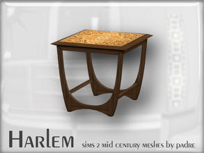 Sims 2 — Harlem Mid Century - G-Plan Small Table by Padre — A large set of meshes inspired by the mid century era.