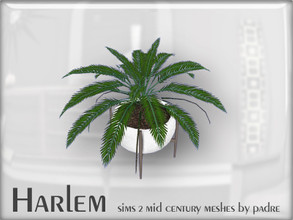 Sims 2 — Harlem Mid Century - Potted Fern by Padre — A large set of meshes inspired by the mid century era. *This item