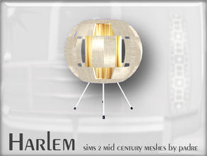 Sims 2 — Harlem Mid Century - Table Lamp by Padre — A large set of meshes inspired by the mid century era.