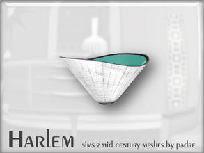 Sims 2 — Harlem Mid Century - Bowl by Padre — A large set of meshes inspired by the mid century era.
