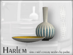 Sims 2 — Harlem Mid Century - Vase & Dish by Padre — A large set of meshes inspired by the mid century era.