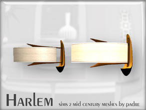 Sims 2 — Harlem Mid Century - Sconce by Padre — A large set of meshes inspired by the mid century era.