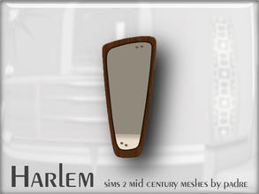 Sims 2 — Harlem Mid Century - Atomic Wall Mirror by Padre — A large set of meshes inspired by the mid century era.