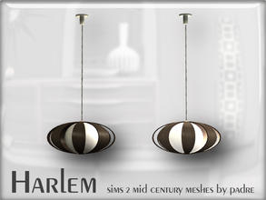 Sims 2 — Harlem Mid Century - Bent Wood Pendant Light by Padre — A large set of meshes inspired by the mid century era.