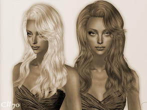 Sims 2 — Artificial Love Hairstyle - Mesh by Cazy — Hairstyle for female, young adult~elder