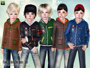 Sims 3 — Cool Jackets for Boys - Set by lillka — This set includes two jackets for boys. Everyday/Outdoor recolorable I