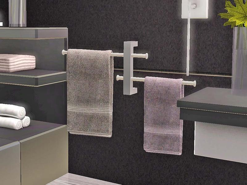 Ung999 bathroomaccessories 12 towel bar for Bathroom decor sims 3