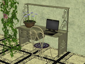 Sims 2 — Arcadia Desk Recolor Set - Meesha-s2l-da-gray by zaligelover2 — 12 recolors of Sims2Luxe\'s Arcadia Desk. Mesh
