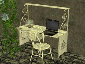 Sims 2 — Arcadia Desk Recolor Set - Meesha-s2l-da-wht by zaligelover2 — 12 recolors of Sims2Luxe\'s Arcadia Desk. Mesh
