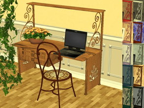 Sims 2 — Arcadia Desk Recolor Set by zaligelover2 — 12 recolors of Sims2Luxe\'s Arcadia Desk. Mesh can be found at