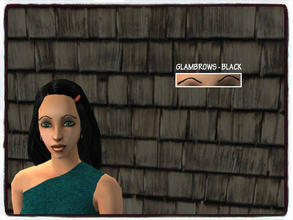 Sims 2 — BLACK GLAM BROWS by Xodess — This is a single item; black glamorous eye brows! Your Sims will love them. Works