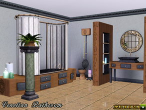 Sims 3 — Venetian Bathroom by Canelline — A sweet and luxurious corner in your house for your Sims, composed of 9