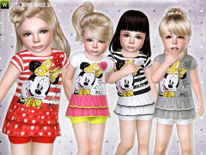 Sims 3 — Cute Minnie Mouse Dress by lillka — Cute Minnie Mouse dress for toddler girls Everyday/Formal 4
