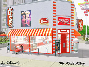 Sims 3 — The Soda Shop by Wimmie —