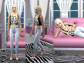 Sims 2 — Sandy by Nita_hc — Skinny jeans and NYC top, my first creation! -NYC top and Skinny jeans, Nita hc -Sharp eyes,