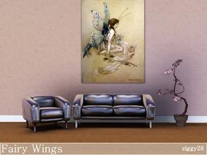 Sims 3 — Fairy Wings by ziggy28 — Vintage painting. The fairies came flying in at the window and gave her such a pretty
