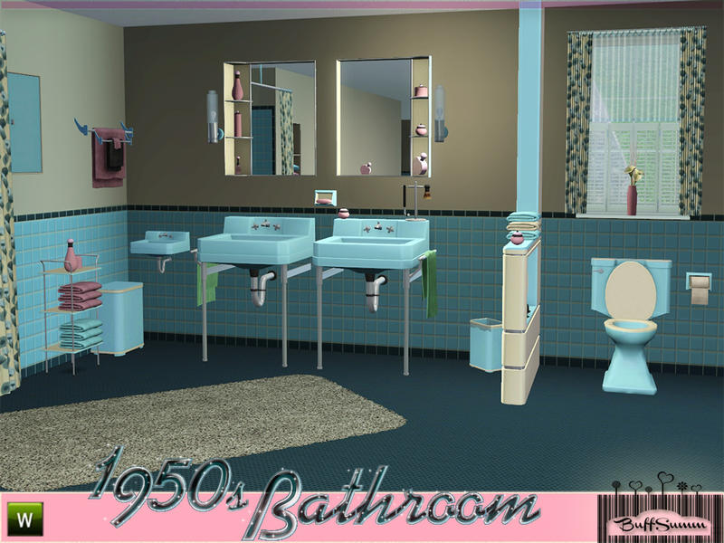 Buffsumm 39 s 1950s bathroom part 1 for 1950 bathroom ideas