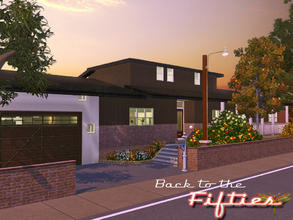 Sims 3 — Back to the Fifties by fredbrenny — This lot is a replica of the house I used to live in when I lived in