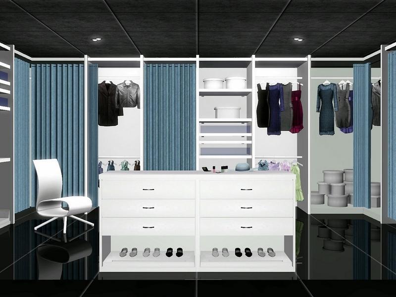 Flovv S White Cream Walk In Closet