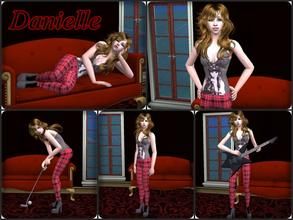 Sims 2 — Danielle by Nita_hc — -Silently shirt and red trousers, Nita hc -eyebrow, YummiMuffin -eye color love life,