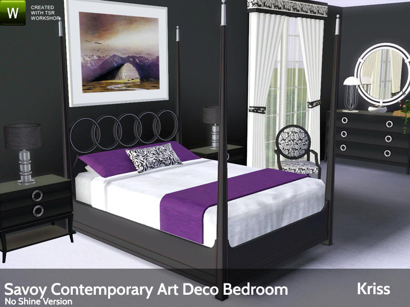 Savoy Contemporary Art Deco Bedroom