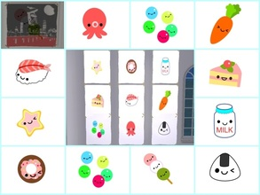 Sims 2 — Kawaii poster set by Nita_hc — 10 kawaii poster of cute food, Nita hc.