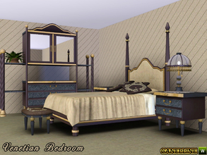 Sims 3 — Venetian Bedroom by Canelline — Vintage, glamorous, luxurious are just so many words that can describe the mood