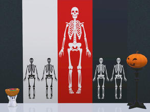 Sims 3 — Skeleton Wall by Wimmie — This download contains 2 walls with skeleton motifs in one file. These walls goes well