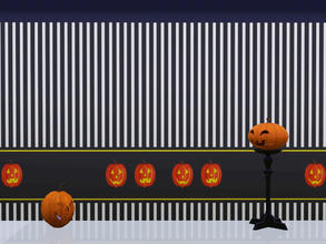 Sims 3 — Pumpkins Wall 1 by Wimmie — This download contains 2 walls with pumpkin motifs in one file. These walls goes