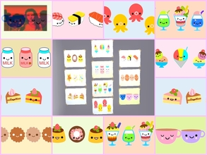 Sims 2 — Kawaii poster set 2 by Nita_hc — 10 kawaii poster of cute food, Nita hc.