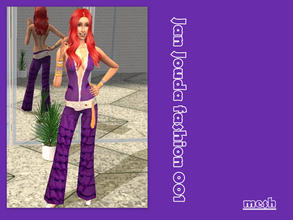 Sims 2 — Jan Jouda fashion 001 - Mesh  by L-75_sims — This outfit is in the style of 70\'s . Mesh.