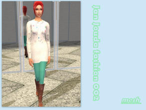 Sims 2 — Oversized jumper outfit - Mesh  by L-75_sims — Autumn outfit for your sims. Mesh