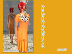 Sims 2 — African inspired beaded dress - Mesh Glamsimstraightsleevekneedress by L-75_sims — African summer dress for your