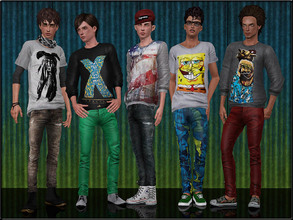 Sims 3 — MaleFashionSet6 by Shojoangel — Hi...fashionable and trendy set for your male sims...set included t-shirt,