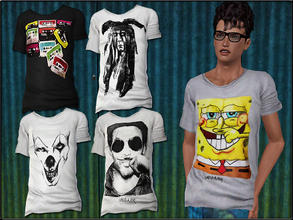 Sims 3 — MaleFashionSet6_Tshirt by Shojoangel — Hi...fashionable and trendy set for your male sims...recolorable...big