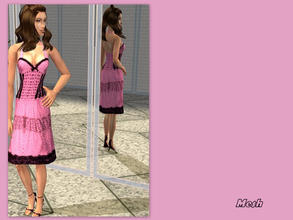 Sims 2 — Cha cha pink dress - Mesh  by L-75_sims — Beautiful pink dress fot your sims. Mesh