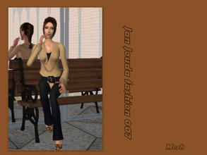 Sims 2 — Cowl neck sweater & skinny jeans - mesh  by L-75_sims — Beautiful brown autumn clothes. Mesh.