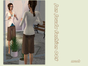 Sims 2 — Knit wrap cardigan & capris - Mesh  by L-75_sims — Wonderful clothes for your sims. Mesh